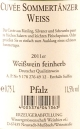 SOMMERTNZER Weiwein feinherb 2011, Winzergenossenschaft Weinbiet
